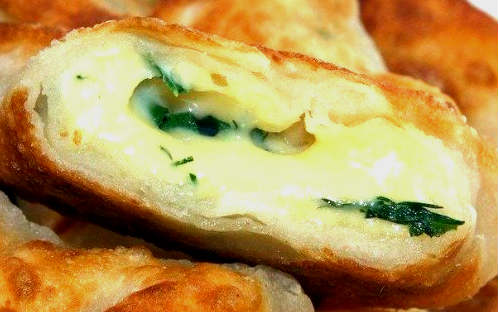 Kefir envelopes with cheese and fresh herbs recipe