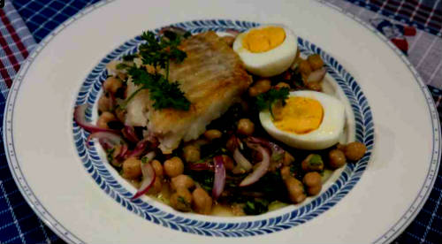 Roasted Cod with Chickpea Salad photo