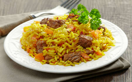 rice-pilaf-with-beef-recipe and photo