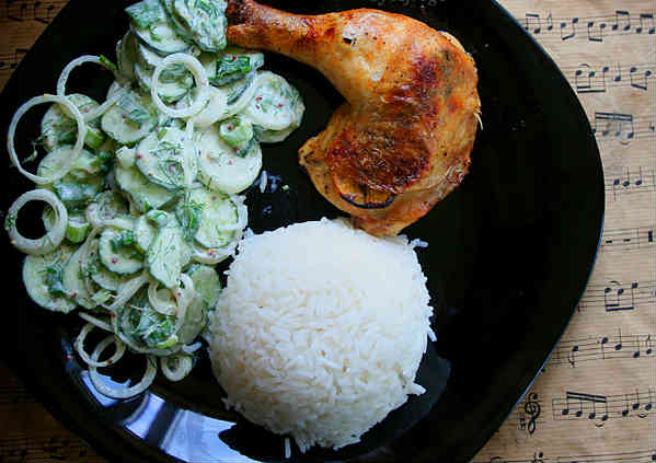 Chicken thighs with Lemon, Thyme and Garlic Recipe